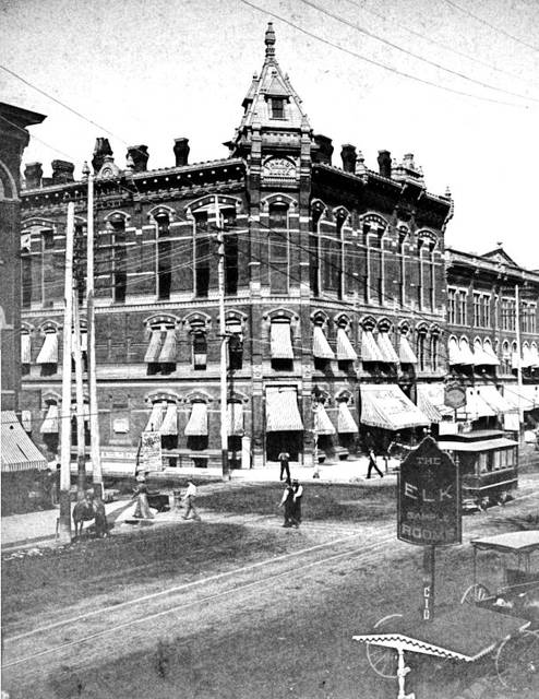 The Faurot Block was once part of a busy downtown Lima, pictured here in an unknown year.