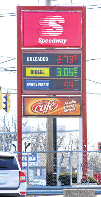 Gas price going up at a local Speedway on corner of Cable and Allentown Road in Lima.  Craig J. Orosz | The Lima News