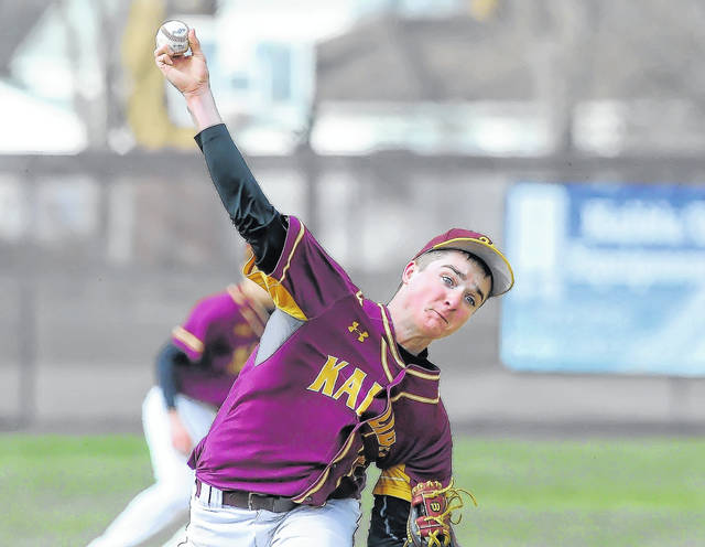 Kalida's Josh Klausing looked sharp in his outing against Delphos St. John's. The Wildcat picher worked four innings, and gave up two runs, both earned, on four hits. He struck out five and walked two.