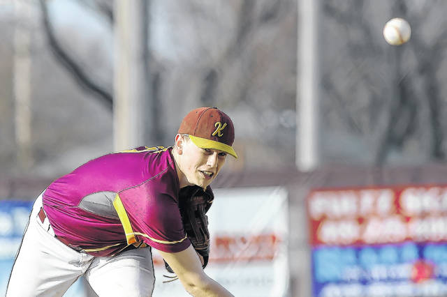 Owen Recker pitches for Kalida against Fort Jennings during Thursday's game at Holy Name Ballpark in Kalida. See more game photos at LimaScores.com.