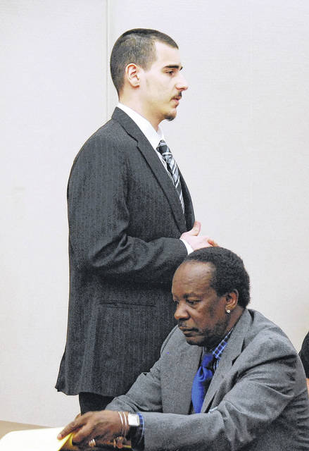 J Swygart | The Lima News Twenty-year-old Lima resident Gavin Lauck turned to address the family of Damere Oliphant in Allen County Common Pleas Court Monday prior to being sentenced to 18 years to life in prison in connection with the March 27, 2017 shooting death of Oliphant.