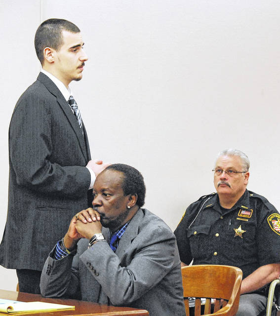 J Swygart | The Lima News  Twenty-year-old Lima resident Gavin Lauck apologized to the family of Damere Oliphant in Allen County Common Pleas Court Monday prior to being sentenced to 18 years to life in prison in connection with the March 27, 2017 shooting death of Oliphant.