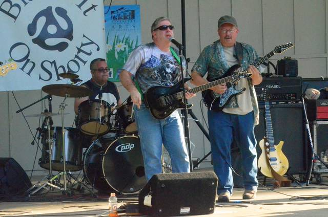 John Bush | The Lima News Blame it on Shorty rocks the Faurot Park Rotary Pavilion on Sunday night. The performance was the first in a series of concerts that run each Sunday through August.