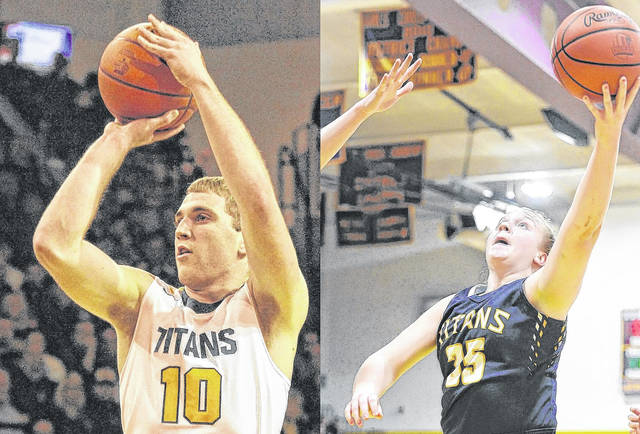 Ottawa-Glandorf's Jay Kaufman and Kadie Hempfling were each named first team all-state in 2017-18.