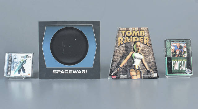 "The Strong Museum in Rochester, N.Y., announced the 2018 inductees to the World Video Game Hall of Fame. They are, from left, ""Final Fantasy VII"", ""Spacewar!,"" ""Tomb Raider"" and ""John Madden Football."""
