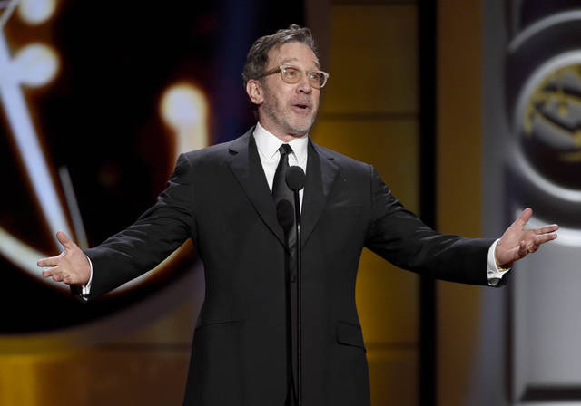 """Tim Allen speaks onstage at April's 44th annual Daytime Emmy Awards at the Pasadena Civic Center in Pasadena, Calif. Fox is bringing """"Last Man Standing"""" to its fall lineup, a year after ABC dropped the Allen comedy."""