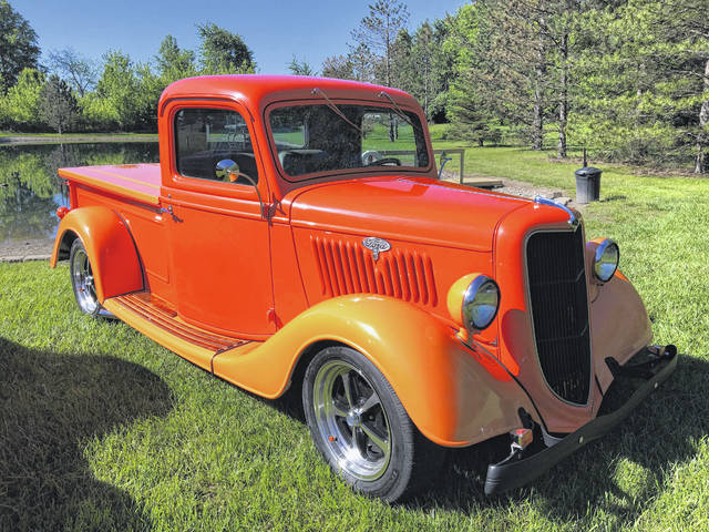 Harold Van Horn of Gomer bought this 1935 Ford Pickup off of eBay.