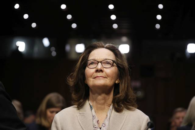 CIA nominee Gina Haspel is seated before a confirmation hearing of the Senate Intelligence Committee on Capitol Hill, Wednesday, May 9, 2018 in Washington. (AP Photo/Alex Brandon)