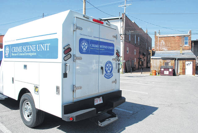 J Swygart | The Lima News  The Ohio Bureau of Criminal Investigation was in Delphos Monday as part of a criminal investigation into the death late last month of an infant in a North Main Street apartment.