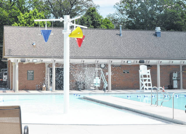 The newly added tumble bucket area of the Shawnee Country Club's pool facility on 1700 Shawnee Rd.