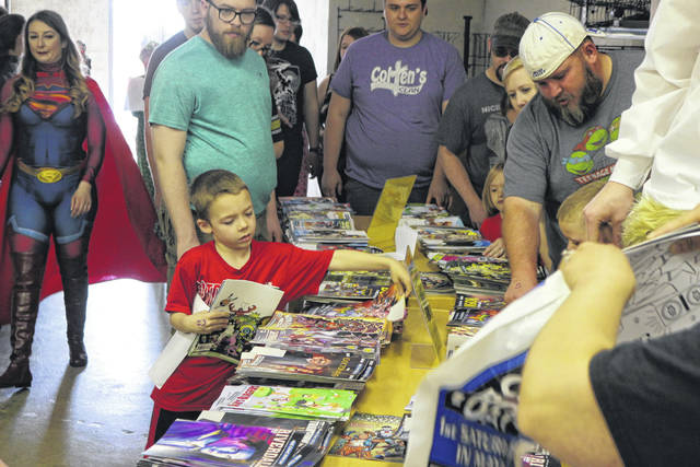 Kids of all ages took advantage of Free Comic Book Day at Alter Ego Comics Saturday.