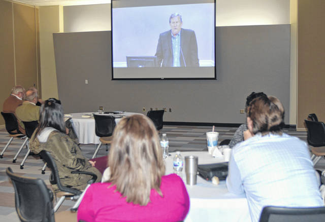 "Ohio State Bar Assocation's ""Waking from Dreamland:The Opiate Crisis and Where Ohio Stands in the Fight"" web seminar participants listened to guest speaker, Sam Quinones, as he discussed the opiate crisis at Mercy Health-St. Rita's on Monday."