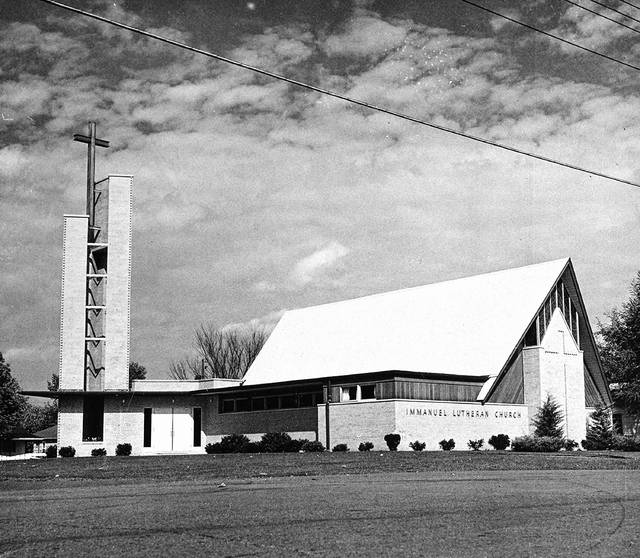 Immanuel Evangelical Lutheran Church, pictured in 1961.