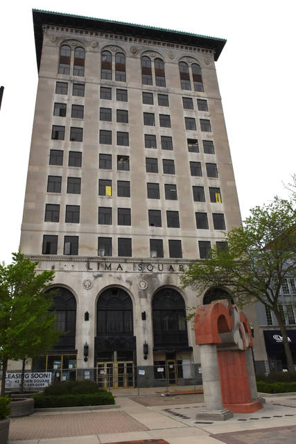 Bank building in downtown square Lima.  Craig J. Orosz | The Lima News