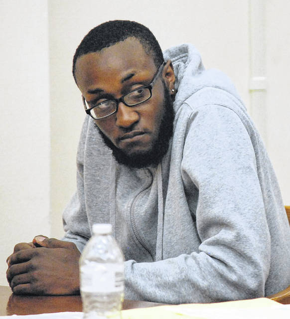 J Swygart | The Lima News Marquise Turner of Lima was sentenced Monday to three years in prison for his role in a November armed robbery during a drug deal. His co-defendant, Decorian Dawson, was sentenced previously to four years in prison as the gunman in the robbery.