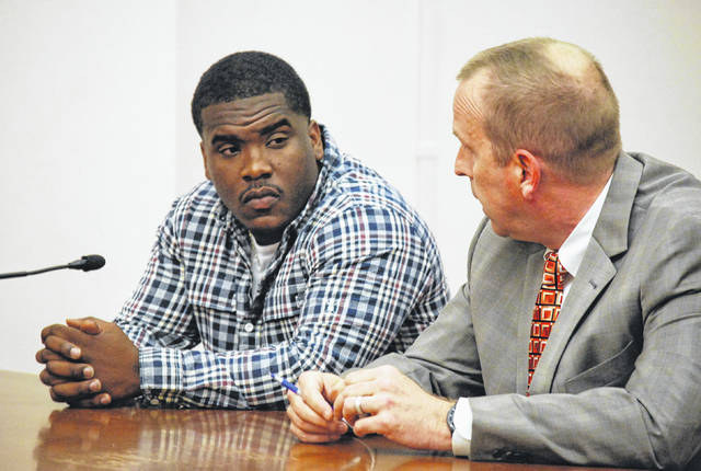 J Swygart | The Lima News  Lima resident Marvin Bridges, 20, was sentenced Monday to four years in prison on a second-degree felony charge of felonious assault with a one-year firearm specification. A one-year term on the firearm charge is mandatory and will be served prior to a three-year term on the assault charge.