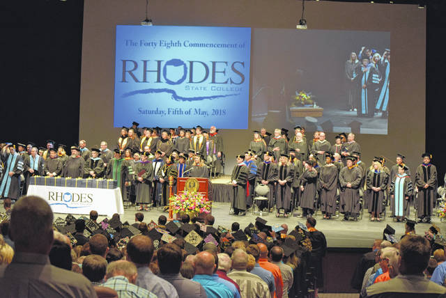 It was a packed house for Saturdays commencement for Rhodes State College. This was the institutions 48th Commencement.
