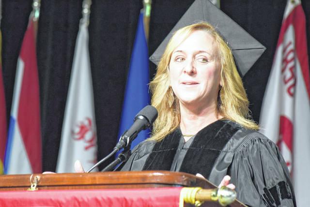 Parsons Corporation Federal Business Unit President Carey Smith was the speaker at ONU's undergraduate commencement ceremony Sunday.