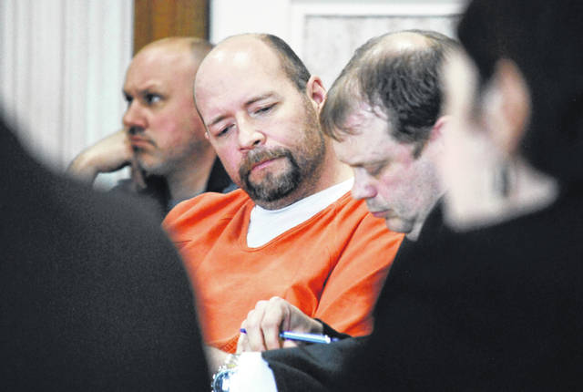 Harrod resident Tony Sheldon showed little emotion Tuesday when he was sentenced to nearly 20 years in prison on charges that included complicity to attempted aggravated murder and complicity to aggravated arson. Sheldon was convicted last month by a Hardin County jury for orchestrating a scheme to have the home of his ex-wife burned to the ground.