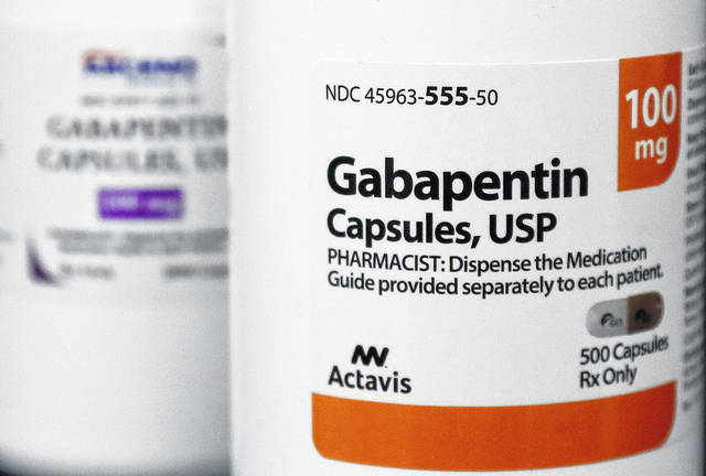 This Thursday, May 3, 2018 photo shows bottles of gabapentin at Daniel's Pharmacy in San Francisco. The 25-year-old non-opioid pain drug is one of the most prescribed medications in the U.S., ranking ninth over 2017, according to prescription tracker GoodRx. Researchers attribute the recent surge to tighter restrictions on opioids, which have left doctors searching for alternatives for their patients.