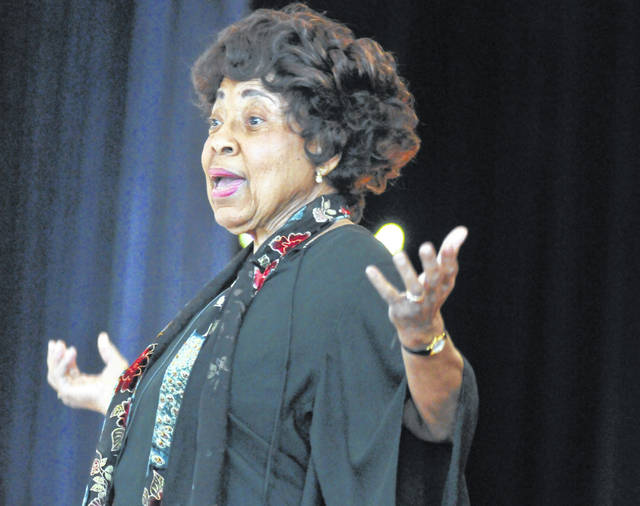 This 2014 photo shows Civil Rights leader Dorothy Cotton, speaking during VSU's Founders Day celebration in Chesterfield County, Va. The Southern Christian Leadership Conference announced that Cotton died Sunday.