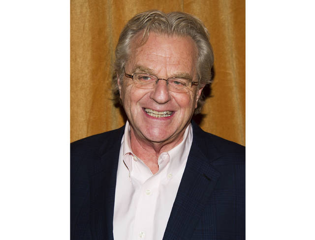 """In this 2014 file photo, TV talk show host Jerry Springer attends the premiere of the Discovery Channel's """"Klondike"""" in New York. After more than 4,000 episodes of """"The Jerry Springer Show"""" since 1991, Springer will stop making new ones. NBC Universal said this week that the CW and other networks that have bought the show in syndication will air reruns of the slugfest starting next fall."""