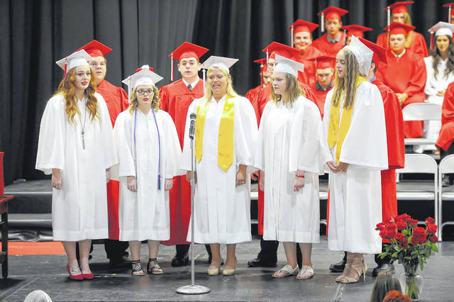 Delphos Jefferson graduates during the graduation ceremony.