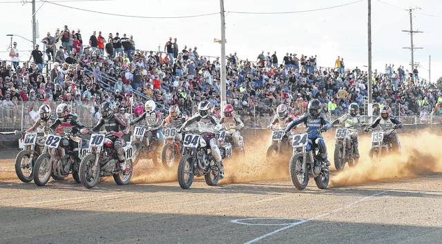 Top motorcycle racers will be in action at the Indian Motorcycle Lima Half-Mile at the Allen County Fairgrounds Saturday.