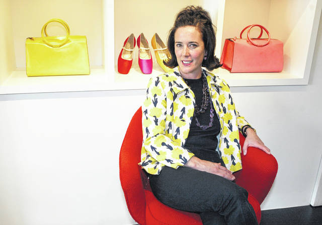 This May 13, 2004 photo shows designer Kate Spade during an interview in New York. Spade was found dead in an apparent suicide in her New York City apartment on Tuesday, June 5, 2018.