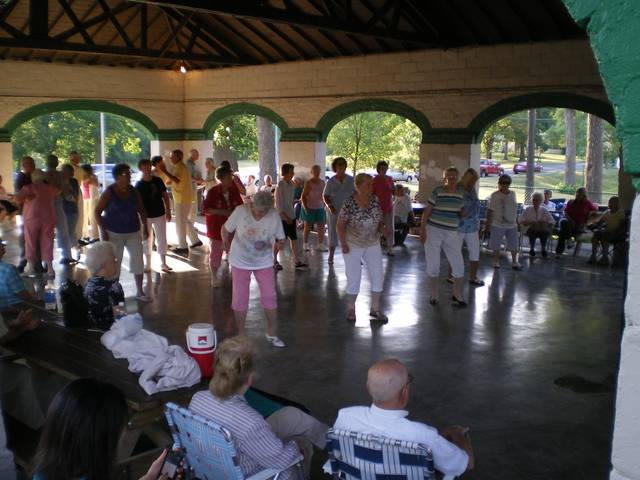 Attendees take part in last year's Lincoln Park dances. Submitted photo.
