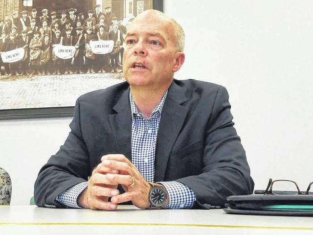Republican candidate for Ohio Supreme Court Craig R. Baldwin visited Lima Friday afternoon.