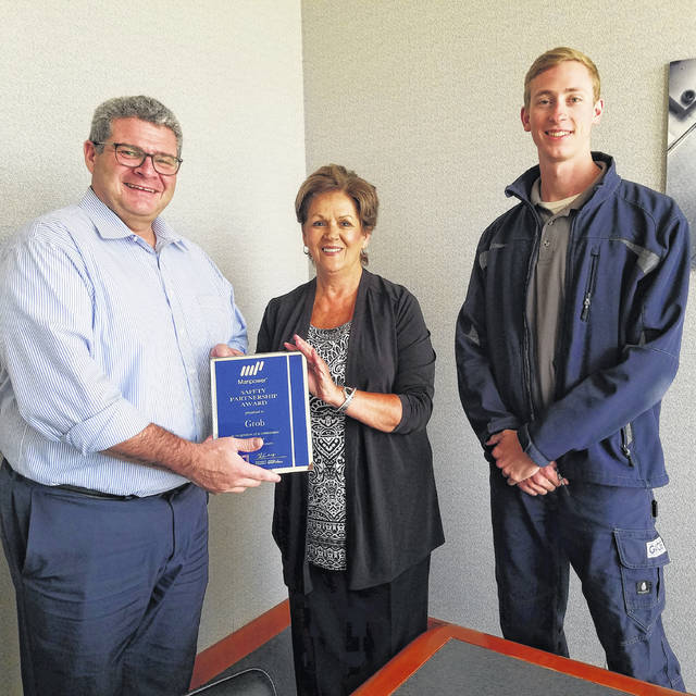 From Right to Left: Bryan Williams, GROB Safety Engineer. Sue Shaffer, Lima Manpower Branch Manager, and Dillon Webster, GROB Safety Engineer