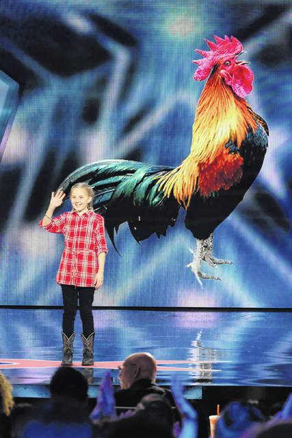 "Lilly Wilker, of New Bremen, shares her animal impressions on Tuesday night's episode of NBC's ""America's Got Talent."""