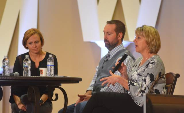 50 Strong CEO Ashley Thompson, Alter Ego Comics Owner Marc Bowker and Allen County Board of Developmental Disabilities Superintendent Theresa Schnipke explain how their organizations deal with social media on a day-to-day basis during a panel at Social Media Week Lima 2018.