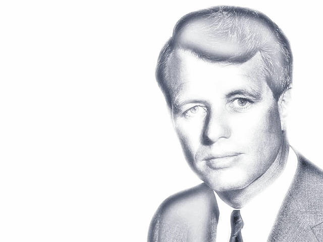 Illustrated image of Robert F. Kennedy. (John F. Kennedy Presidential Library)