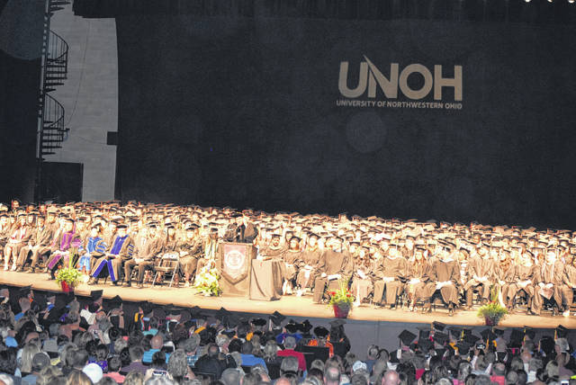 The University of Northwestern Ohio held graduation ceremonies Sunday at Veterans Memorial Civic Center. More than 1,500 degrees and diplomas were earned.