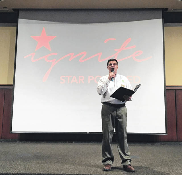 Paul Hoverman, executive director of the Niswonger Performing Arts Center in Van Wert introduces the Ignite series for the 2018-2019 season.