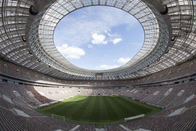 Luzhniki stadium in Moscow will be the site of the World Cup opening match Thursday between host Russia and Saudi Arabia. AP photo