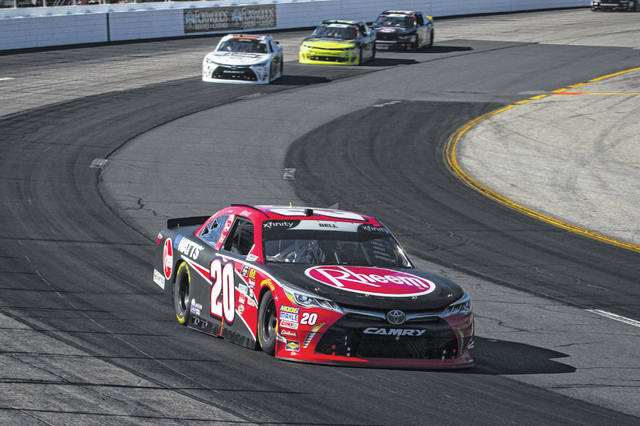 Christopher Bell heads through a turn on the way to winning Saturday's NASCAR Xfinity Series race at New Hampshire Motor Speedway in Loudon, N.H.