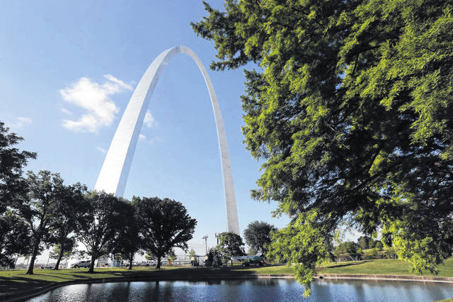 The Gateway Arch is seen in St. Louis on June 21. A newly expanded museum underneath the Arch opened Tuesday and is the final piece of a massive $380 million renovation of the grounds surrounding and entrance to the iconic monument.