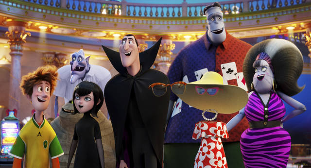 "This image released by Sony Pictures Animation shows a scene from ""Hotel Transylvania 3: Summer Vacation."" (Sony Pictures Animation via AP)"