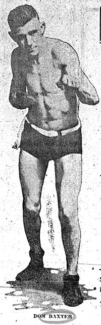 Don L. Baxter, pictured during his fighting days.