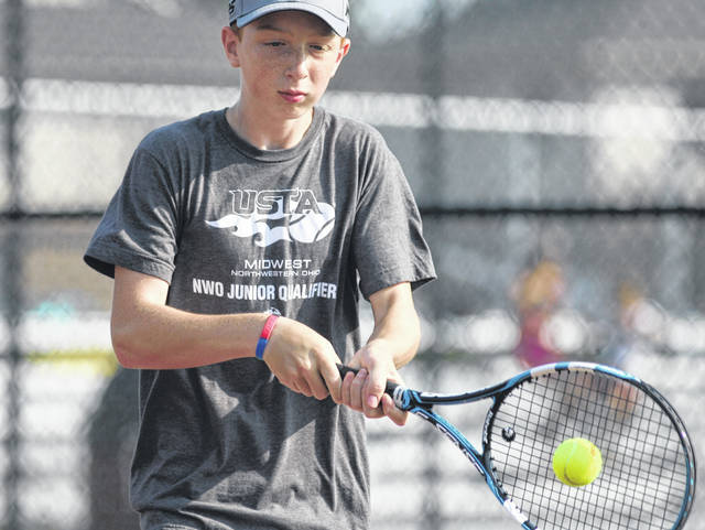 Gabe Burke won both of his matches in the junior division of the Lima Area Tennis Association tournament at UNOH Saturday. Burke advanced to the finals