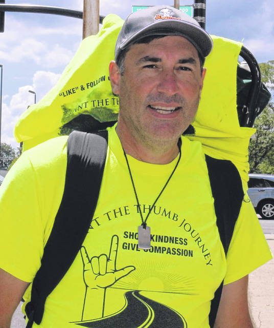 James Smith is walking across the country and hopes to reach San Francisco in early December.