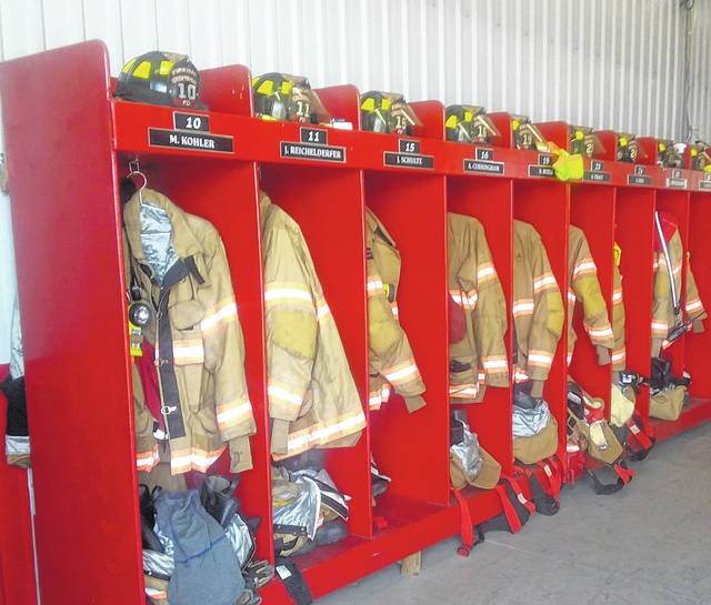 Turnout gear, like this, has to be replaced every 10 years. The Cridersville Fireman's Jamboree helps pay for new equipment.