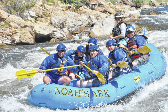 "Boy Scouts from Troop 84, Gomer go white water rafting in Colorado as part of their ""Phil-Not"" trip."