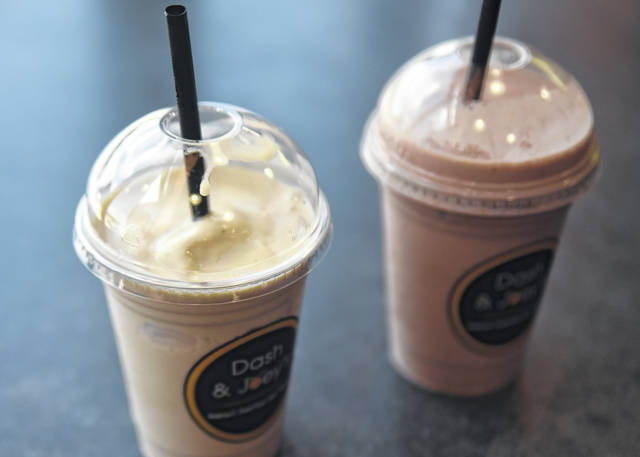 Pop into Dash & Joey's for a juice or smoothie for a healthy snack.