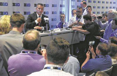 Ohio State head coach Urban Meyer Tuesday at the Big Ten Conference Media Days in Chicago talked about the Buckeyes transitioning to a new starting quarterback along with other topics.