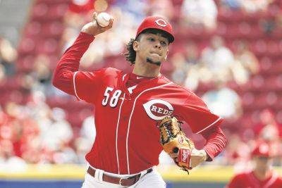 Luis Castillo allowed four hits and a walk while striking out nine in a a season-high seven innings as the Reds defeated the Phillies 4-0 Sunday in Cincinnati.