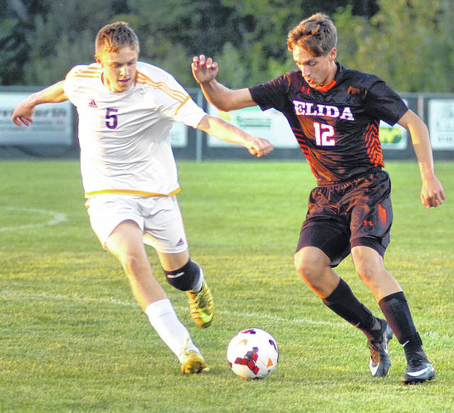Kalida's Grant Laudick (left) and Elida's Corbin Fingerle will try to help their teams win league titles again.